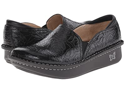Alegria Debra Professional (Black Emboss Rose Leather) Women