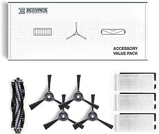 Ecovacs DO3G-KTA zestaw akcesoriów – pasuje do DEEBOT 600/601/605, 1 x szczotka główna, 4 x szczotki boczne, 3 x filtr dro...