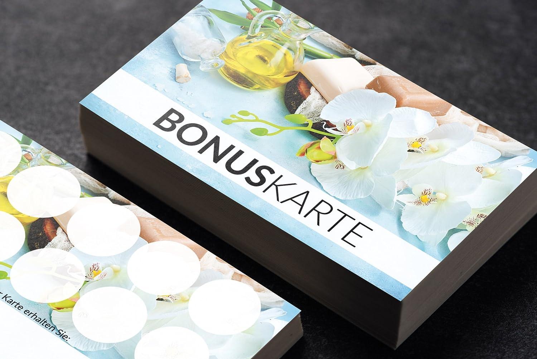 Premium Wellness Massage Massage Massage Spa Bonuskarte Ozean optional mit Stempel (1000 Stück) B077BHVY3F  | Zuverlässige Qualität  dc3921