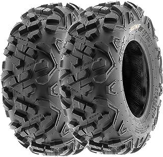 SunF 145/70-6 145/70x6 ATV UTV A/T Mud Replacement 6 PR Tubeless Tires A051 POWER II, [Set of 2]