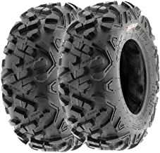 SunF 20x10-8 ATV UTV Tire 20x10x8  Knobby Replacement 6 Ply A003 Tubeless