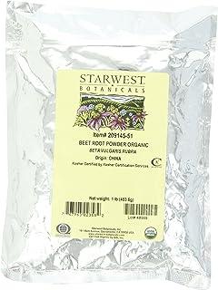 海外直送品Organic Beet Root Powder, 1 lb by Starwest Botanicals