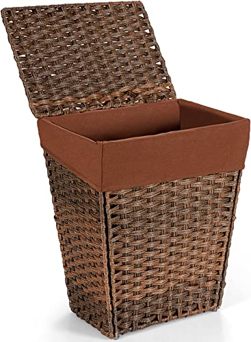wholesale Giantex Laundry Hamper with popular Lid, Foldable Laundry Basket w/Removable Liner Bag, Handwoven Rattan Clothes Hamper w/Handles Anti-skid Pads for Living online Room Laundry (Brown) online