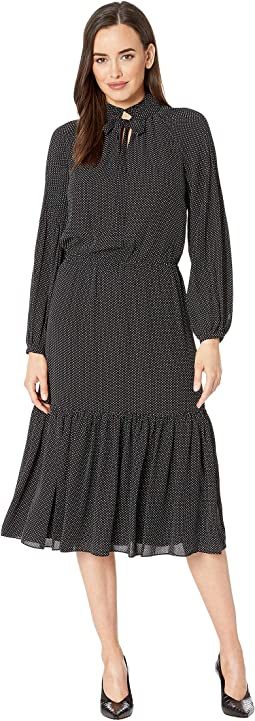 Polka Dot Georgette Dress