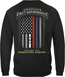 First Responders T Shirt - Thin Thin Red Line - Thin Red Line Long Sleeve Shirts - FF2352LS