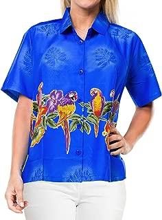 Women Plus Size Summer Tropical Hawaiian Beach Shirt Swimwear Printed B