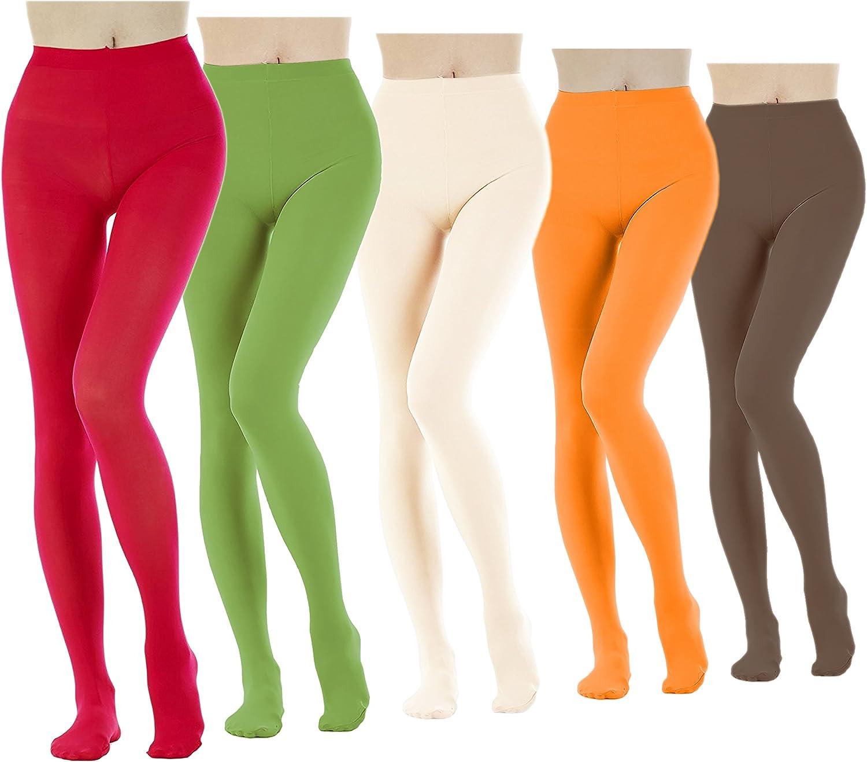 Doyenna - Pantyhose Colorful Women Tights 5 Pairs Micro 80 Den