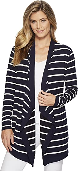 LAUREN Ralph Lauren Striped Open-Front Cardigan