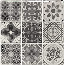 Peel and Stick Backsplash Tile Stickers, Gray Talavera Mexican Tiles (10 Sheets)