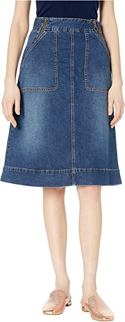 8b70adb527 Roper 0425 5 oz denim gored midi length skirt blue | Shipped Free at ...