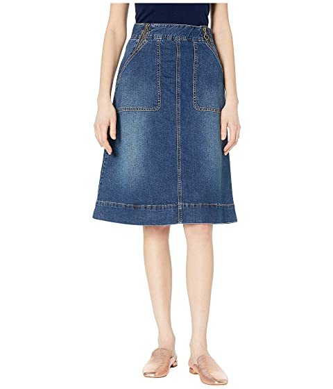 Kate Spade New York Denim Zip Skirt
