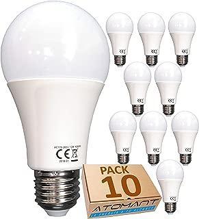 (LA) Bombilla LED A60, 12w, Equivalencia 100w, no Regulable, 1120 lúmenes reales certificados. (Blanco Neutro (4500K), Pack 10x)