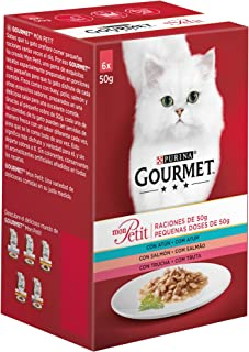 Purina Gourmet Mon Petit comida para gatos con Atún, Salmó