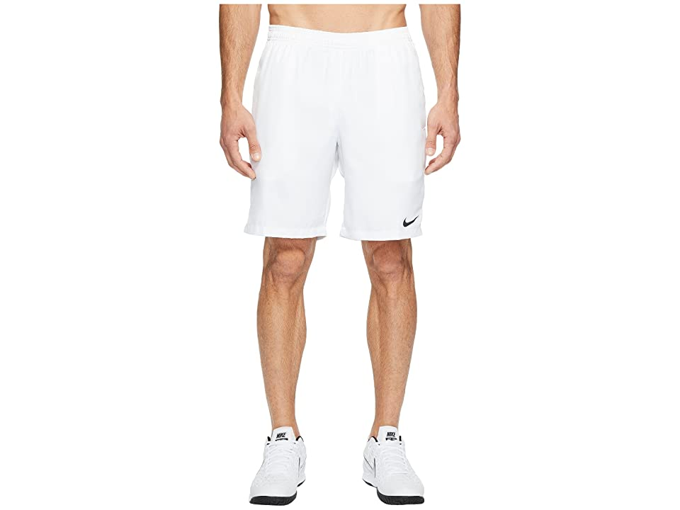 Nike Court Dry 9 Tennis Short (White/White/Black) Men