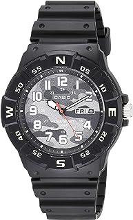 Casio Men's Analog Quartz Resin Strap, Black, 24.77 Casual Watch (Model: MRW-220HCM-1BVCF)