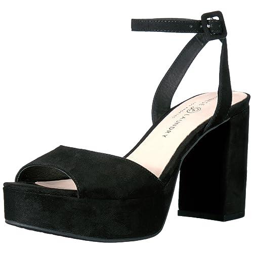 1be427b4ad6 Women s Black Suede Platform Heels  Amazon.com
