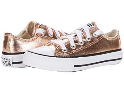 Converse Kids Chuck Taylor(r) All Star(r) Ox Metallic Canvas (Little Kid/Big Kid) (Blush Gold) Girl