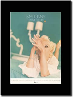 gasolinerainbows - Madonna - Bedtime Stories - Matted Mounted Magazine Promotional Artwork on a Black Mount