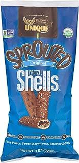 Unique Pretzels - Sprouted Pretzel Shells, Delicious Vegan Snack Pretzels Individual Pack, Large OU Kosher Pretzels, 8 Oz Bags, 12 Pack