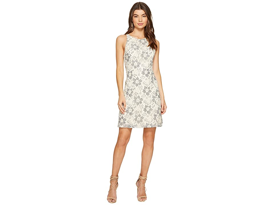 kensie Blossom Lace Dress KS7K9593 (French Vanilla Combo) Women
