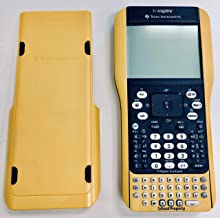 """$59 » Texas Instruments TI Nspire Graphing Calculator with Nspire & TI-84Plus Keypads- Yellow """"School Edition"""" (Renewed)"""
