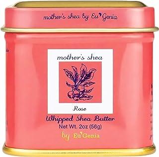 Mother's Shea by Eu'Genia Whipped Shea Butter (Rose, 2 Oz Tins - Set of 3) 100% Pure Raw Unrefined African Shea - Organic,...