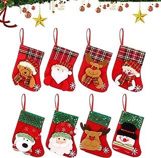 Pack de 8 Noël Chaussettes charité cartes de Noël