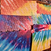 ALAZA Abstract Swirl Design Tie Dye 1000 Piece Jigsaw Puzzles Interesting Toys Game