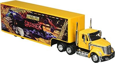 NewRay 1:43 Long Haul Trucker - International Lonestar Container with Monster Truck Design