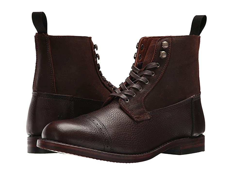 Frye Garrison Boot (Brown Multi Waxed Pebble Leather/Suede) Men
