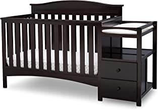 Amazon Com Brown Baby Crib With Changing Table