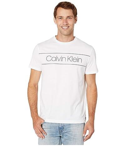 Calvin Klein Athleisure Logo Crew Neck T-Shirt (White) Men