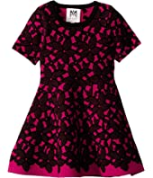 Milly Minis - Floral Mesh Jacquard Dress (Toddler/Little Kids)