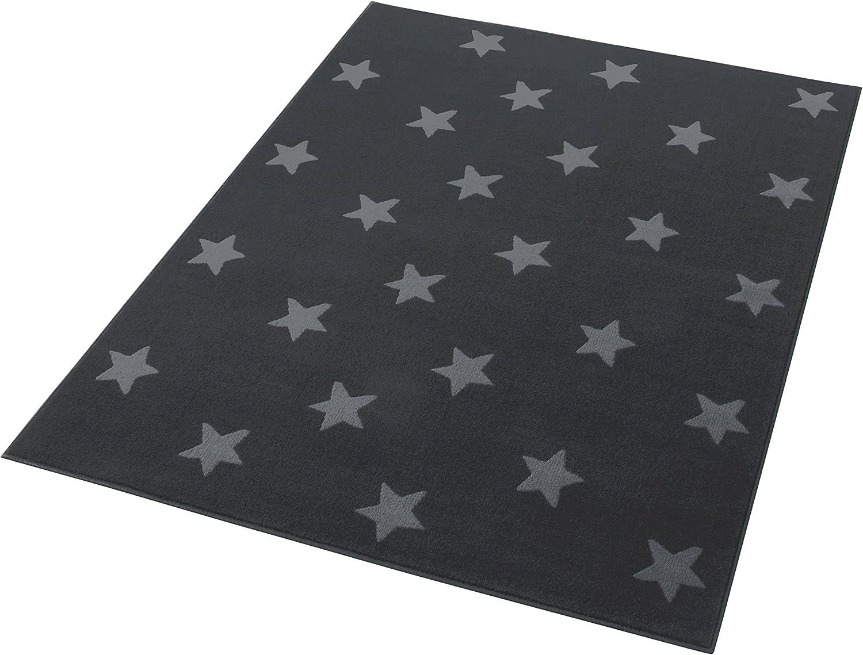 HANSE Home Design Velours Sterne Grau 140x200 cm Teppich Teppich Teppich Polypropylen 140 x 200 x 0.9 cm B00UBKV96S dff7f1