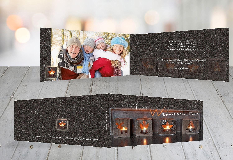 Kartenparadies Grußkarte Weihnachten Weihnachten Weihnachten Foto Grußkarte Adventszeit, hochwertige Weihnachtsgrüße als Weihnachtskarte (Format  215x105 mm) Farbe  Braun B01MY7PIVX | Spielzeug mit kindlichen Herzen herstellen  0db747