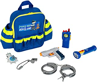 Theo Klein 8802 Police Unit Ben and Sam Police Backpack with Accessories I with Battery-Powered Torch, Handcuffs and Much ...