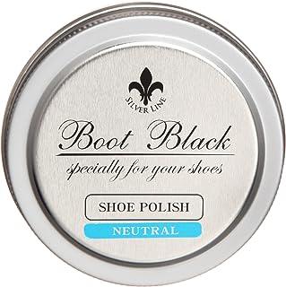 [コロンブス] 靴磨き・ハイシャイン・鏡面磨き ブートブラックシルバーライン 缶入りポリッシュ