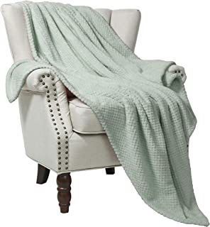 "Exclusivo Mezcla Waffle Flannel Fleece Velvet Plush Large Throw Blanket – 50"" x.."