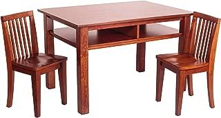 Athena Newton Table and Chair Set, Mahogany