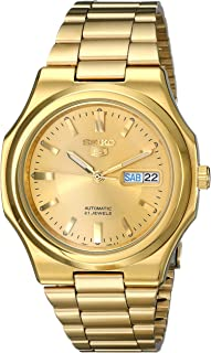 Men's SNKK52 Seiko 5 Automatic Gold-Tone Stainless Steel Bracelet Watch