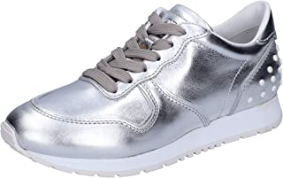 Tod's Sneaker Donna Pelle Argento