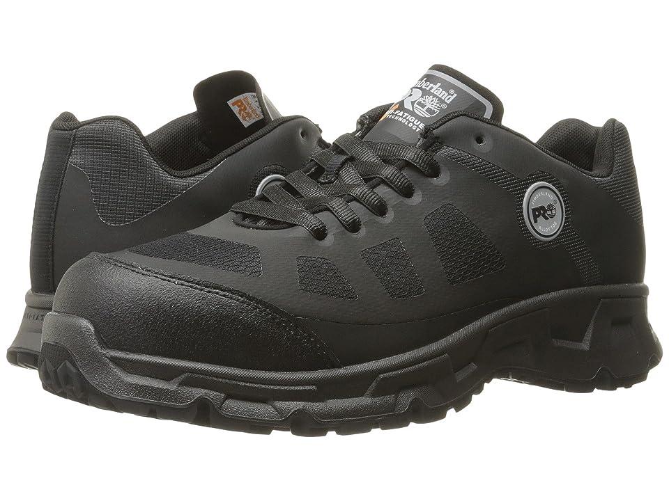 Timberland PRO Velocity Alloy Safety Toe Boot (Black Synthetic) Men