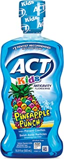 ACT Kids Anticavity Fluoride Rinse, Pineapple Punch Children's Mouthwash, 16.9 oz