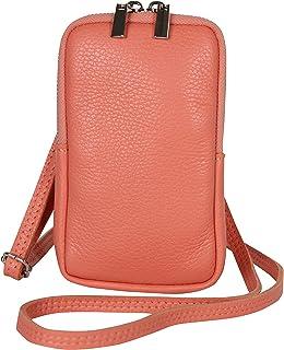 AmbraModa GLX17 - Umhängetasche, Handytasche, Echtleder Tasche mit abnehmbarem und verstellbarem Schultergurt, geeignet fü...