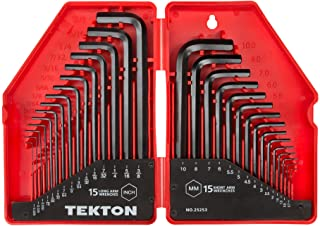 TEKTON Hex Key Wrench Set, 30-Piece (.028-3/8 inch,...