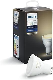 Philips Hue White Ambiance GU10 LED-spot, dimbaar, alle witschakeringen, bestuurbaar via app, compatibel met Amazon Alexa...