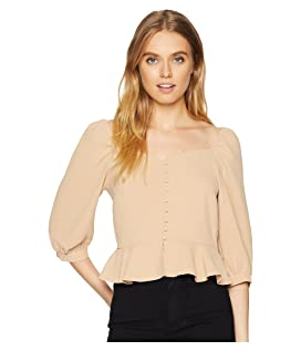 Puff Sleeve Wide Neck Top