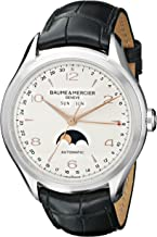 Baume & Mercier Men's BMMOA10055 Clifton Stainless Steel Watch with Black Band