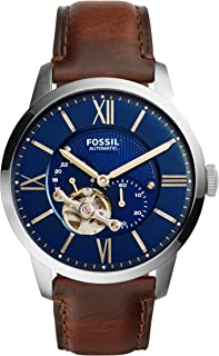 Fossil Men's Automatic Watch, Analog Display and Leather Strap ME3110