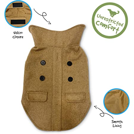 PUPTECK Reversible Dog Winter Clothes Waterproof Cold Weather Coat